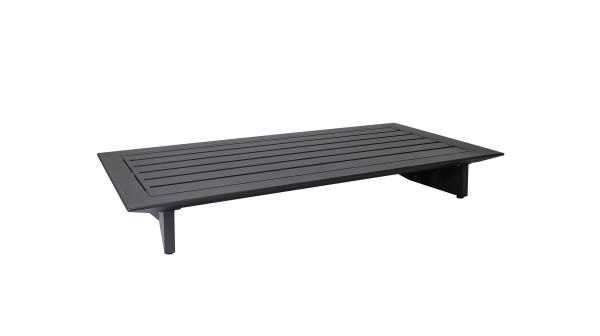 Arbon Basismodul 2-Sitzer eisengrau, Rückenlehne separat zu bestellen