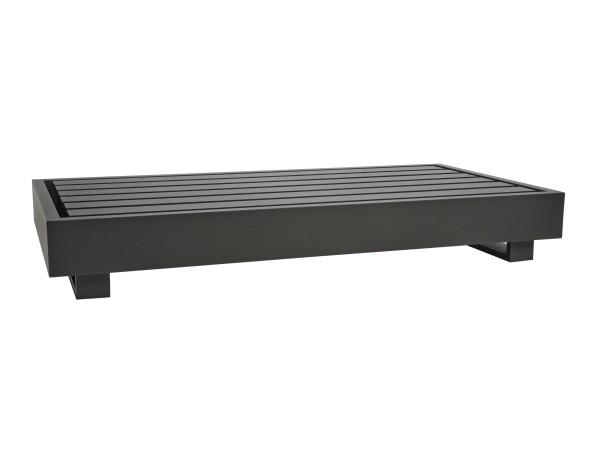 Jati & Kebon Bari Basismodul 2-Sitzer Aluminium eisengrau 180x90x27 cm