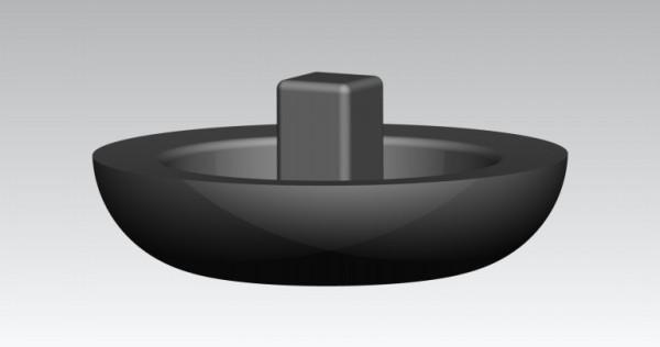 Fusskappen Innendurchmesser 25 mm grau