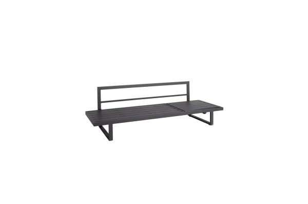 Jati & Kebon Rao Multifunktionsliege / 3-Sitzer Sofa eisengrau matt, mit Verstellfunktion 210x72,5x6