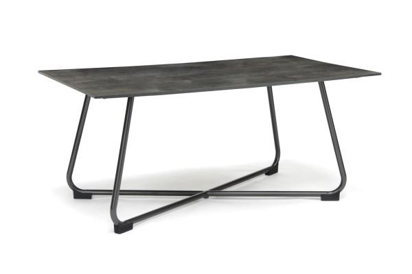 Sow Shin HPL Tisch 160x90 cm, Gestell Bow eisengrau, Tischplatte Cave