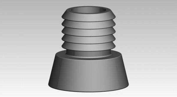 Fusskappen Innendurchmesser 22 mm grau flach