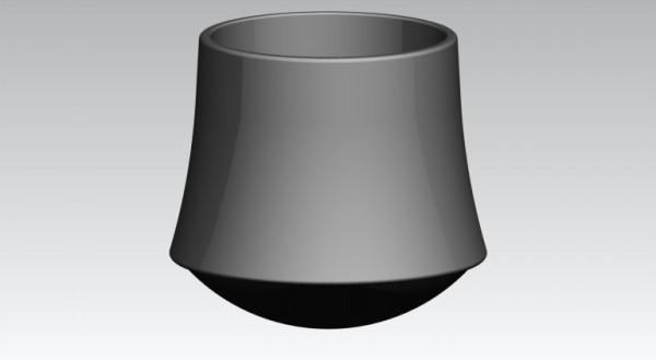 Fusskappen Innendurchmesser 25 mm schwarz, Pilzform