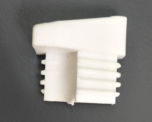 Fusskappe für Dransy Stapelsessel, hinten rechts, weiss