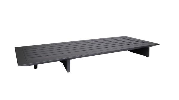 Jati & Kebon Arbon Basismodul 2-Sitzer incl. Tisch eisengrau, Rückenlehne separat zu bestellen
