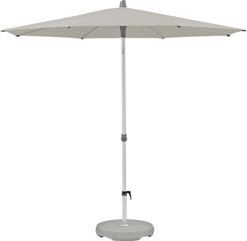 Glatz Alu-Smart Schirm, ø 300, Farbe taupe / ash