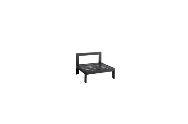 Jati & Kebon Vigo Lounge Mittelmodul eisengrau matt, 78x78,5x61 cm