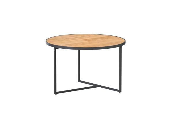 Strada Kaffee-Tisch Teak ø 58,5 cm H 35 cm, Alu-Gestell