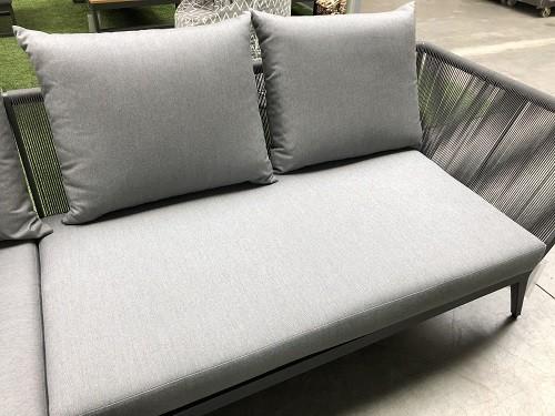 Medford Auflagen-Set 3-teilig 2-Sitzer Sofa 2xRückenkissen und Sitzkissen natte charcoal PG3