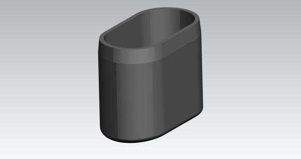 Fusskappe 40x20 mm oval schwarz