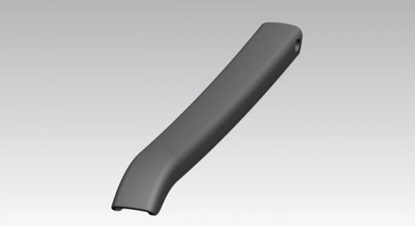 Armlehne ohne Raster Kunststoff Re/Li graphit
