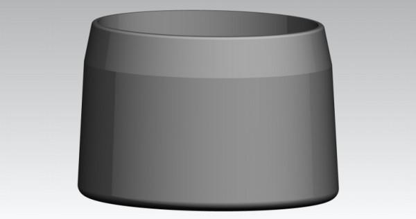 Fusskappen 33X22 mm oval grau