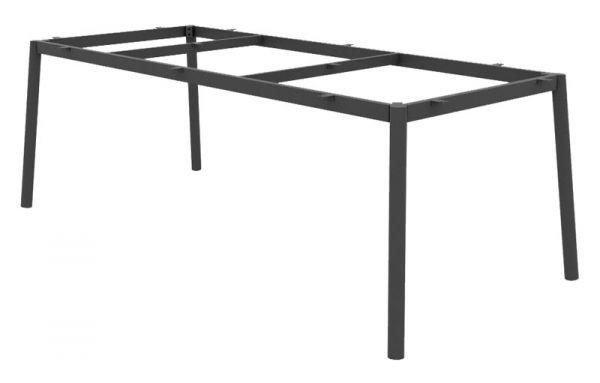 Jati & Kebon Durham Untergestell 220x100 cm Aluminium grau matt