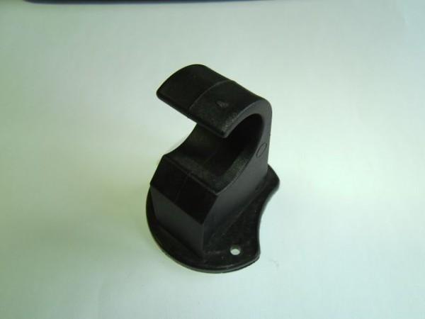 Beschlag für Klapptisch Raster halboffen 28 mm schwarz