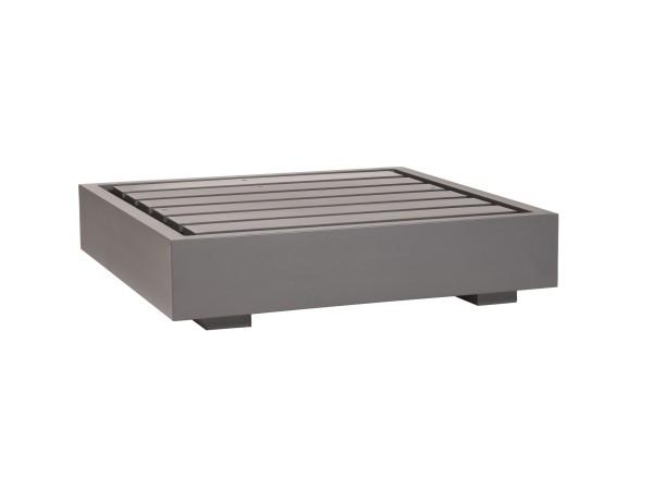 Bari Basismodul 1-Sitzer Aluminium eisengrau 90x90x27 cm
