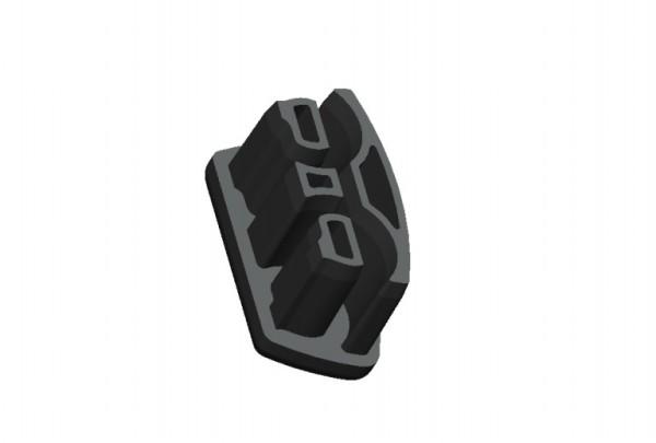 Fusskappen 4er-Set 39X20mm schwarz rechts