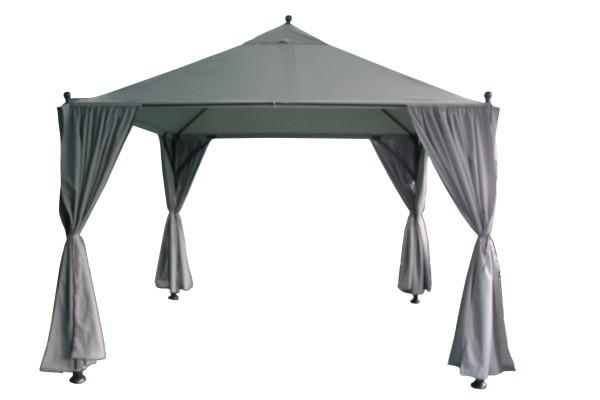 Dach Pavillon, 300x300 cm Stahl G0801 , Farbe grau